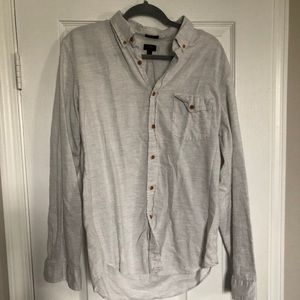 JCrew Slim Grey Button Down